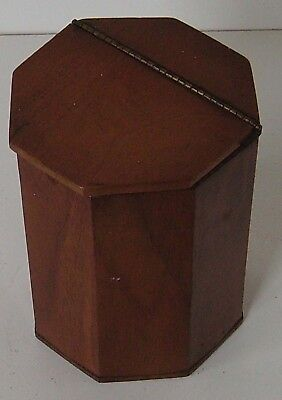 Tea Caddy Solid Wood Octagonal Section Antique