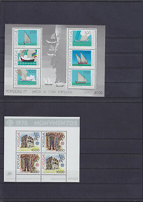 057054 Portugal Block 22 + 23 ** MNH Year 1977/78