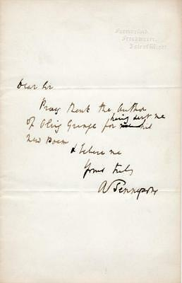 British Poet Alfred Lord Tennyson- ALS Signed