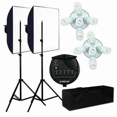 2250W Photo Studio Continuous Video Lighting Kit Photography Softbox Light Stand