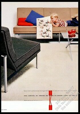 1957 Florence Knoll modern chair sofa photo Knoll Associates vintage print ad