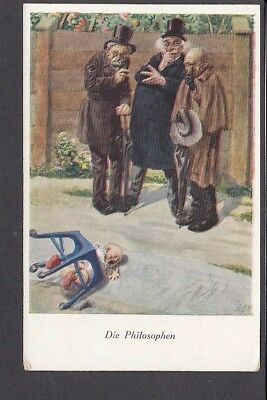 Judaica - Die Philosophen Elderly Jewish Men Watch Infant Mishap