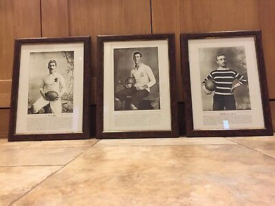3 England Large Vintage Rugby Union Photo's - Framed & Nice