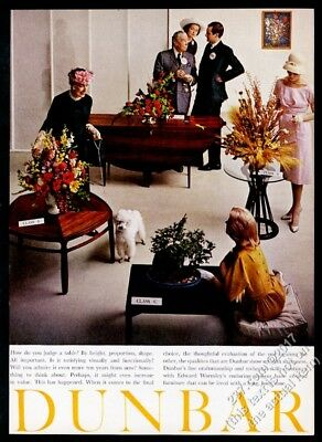 1960 Dunbar furniture Edward Wormley table 4 styles photo vintage print ad