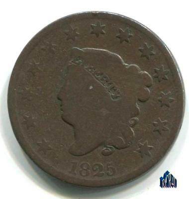 1825 BETTER DATE US CORONET HEAD LARGE CENT!   (((COMBINE SHIPPING))) No ReSeRvE