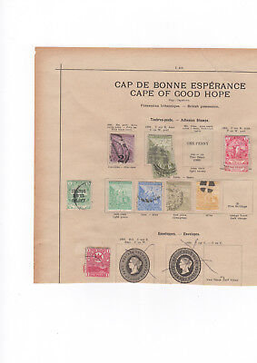 A very nice old used & unused Cape of Good Hope album Page with duplicates