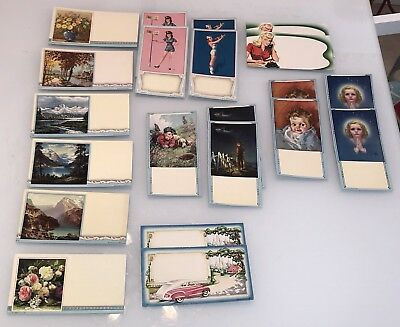 lot of 21 Advertising Ink BLOTTERS 1940's Pin UPS Children Automobile