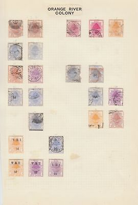 Orange Free State collection on 2 pages , mixed condition.