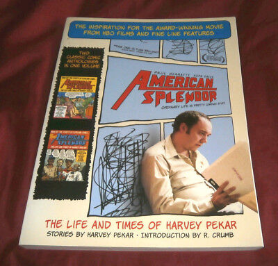 AMERICAN SPLENDOR. LIFE & TIMES OF HARVEY PEKAR. 2004. 2 COMIC ANTHOLOGIES. Fine