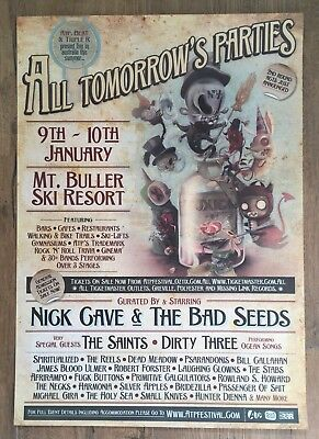 NICK CAVE & BAD SEEDS+SAINTS+ROWLAND HOWARD~orig.2009 ALL TOM.PARTIES gig poster