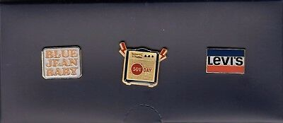 3 Rare Pins Pin's .. Mode Fashion Jeans Levi Strauss Levis Levi's 2017 + Box ~17