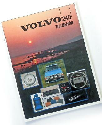 "1985 VOLVO 240 Swedish brochure ACCESSORIES CATALOG ""Tillbehör"""