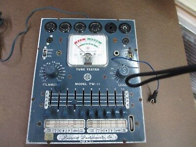 Vintage Superior Instruments Co. Model Tw- 11 Tube Tester Antique W Manual