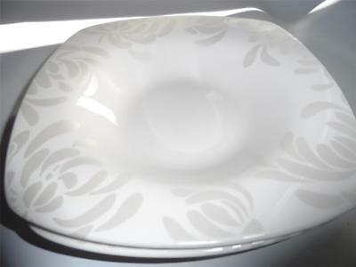 (2) 222 FIFTH - CHRYSANTHEMUM Soup Cereal Bowls White