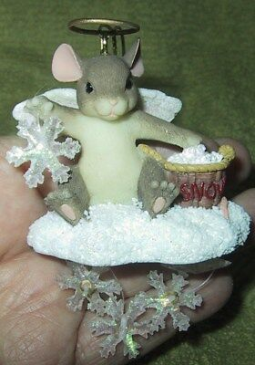 Charming Tails  2000 Snowflakes   W/ Box 86/100 Fitz & Floyd Dated 2000 Ornament