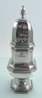 Vintage A Chick & Sons .925 sterling silver sugar sifter caster London 1971