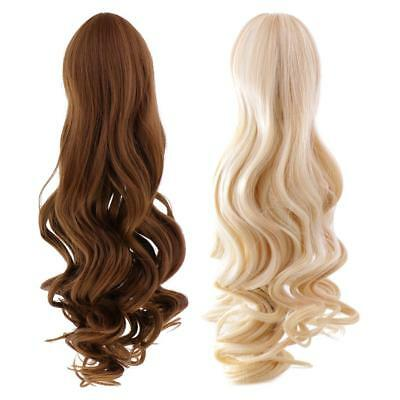 2 Pieces Doll Wavy Curly Hair Wig for 18'' American Girl Dolls Custom Use
