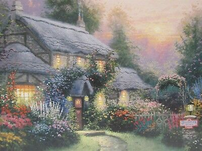 "Thomas Kinkade ""Julianne's Cottage"" Signed Ltd Ed 572/980 Lithograph Print COA"