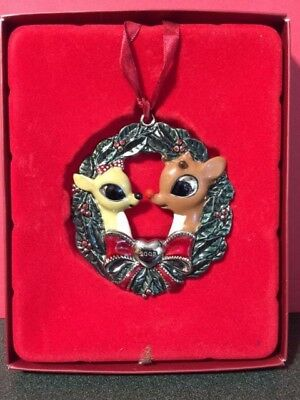 Lenox Ornament 2003 RUDOLPH & CLARICE OUR 1ST CHRISTMAS in Box