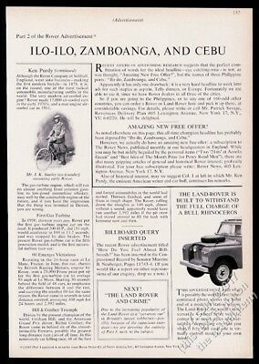 1964 Land Rover Model 88 station wagon SUV photo vintage print ad