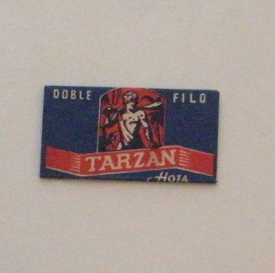 Vintage DE Made in USA Razor Blade  TARZAN - EXTREMELY RARE