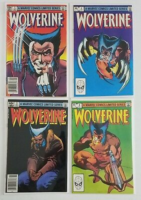 Wolverine #1-4 Copper Age Comic Limited Series Complete Run Lot, Nm High Grade