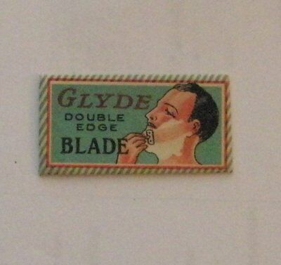 Vintage DE Made in USA Razor Blade  GLYDE Elcado Co - Great Graphics