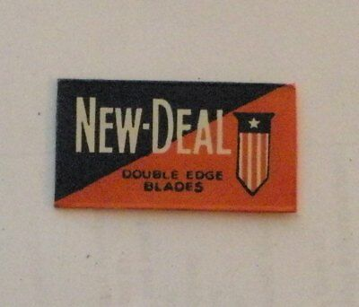 Vintage DE Made in USA Razor Blade NEW DEAL- RARE