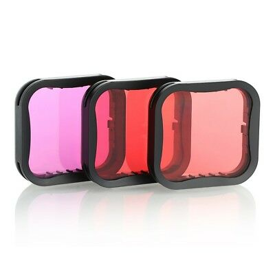 Diving Filter Underwater Red Magenta Snorkel Color Filters for GoPro HERO5 6 7