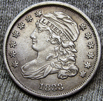 1833 Capped Bust Dime --- TYPE COIN --- #A141