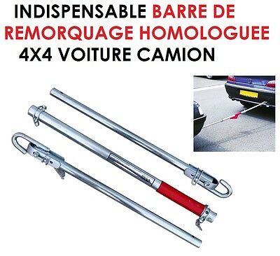 Indispensable Barre De Remorquage 1,8T 2M Homologuee Top Robuste 60Cm Pliee