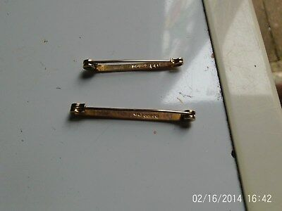 ANTIQUE BIRMINGHAM HM 9ct ROSE GOLD TIE CLIPS 1912 & 1921