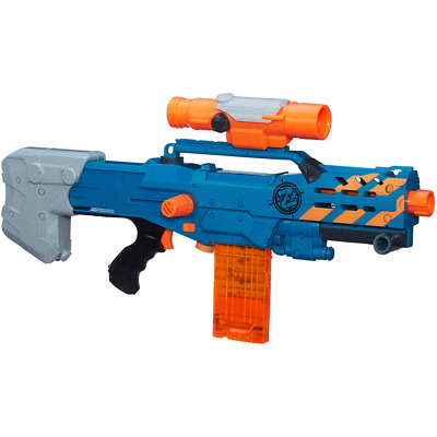 Nerf Zombie Strike ZED Squad Longshot CS-12 Blaster Dart Gun Toy Play Fun New