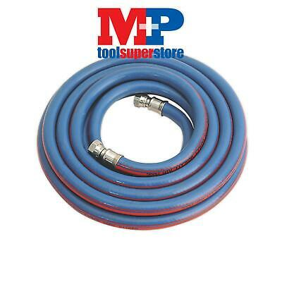 "Sealey AH5R/38 Air Hose 5mtr x �10mm with 1/4""BSP Unions Extra Heavy-Duty"