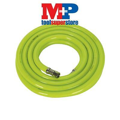 "Sealey AHFC538 Air Hose High Visibility 5mtr x �10mm with 1/4""BSP Unions"