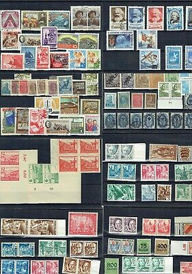 #756 EU misc on 27+ cards Luxembourg Germany Russia Swiss Latvia etc.