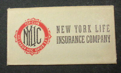 Vintage DE Made in USA Razor Blade NEW YORK LIFE INSURANCE CO One wrapped Blade