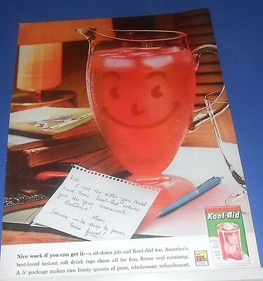 1961 KOOL-AID for sitter & kids after school note from Mom Ad