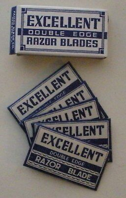 Vintage Made in USA Razor Blade EXCELLENT Full Pack of 5