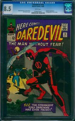 Daredevil # 10  The Strangest Foes DD has ever Faced !  CGC 8.5 scarce book !