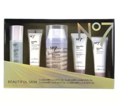 Boots No7 BEAUTIFUL SKIN REGIME COLLECTION  BEAUTY GIFT SET W DAY & NIGHT CREAM