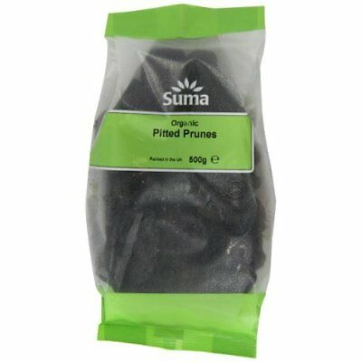 Suma Organic Pitted Prunes 500 g (Pack of 6)