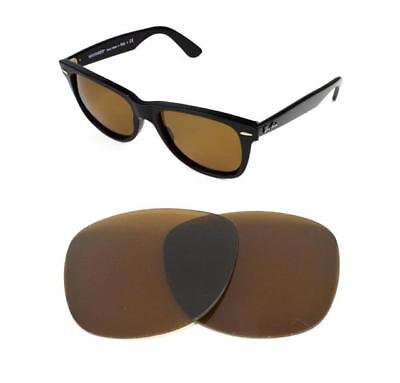 b6c22f4bfee81 NEW POLARIZED REPLACEMENT BRONZE LENS FIT RAY BAN WAYFARER 2132 52mm  SUNGLASSES