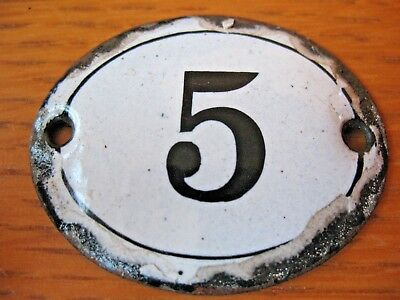 Original old vintage reclaim  Enamel house door gate number 5 others available