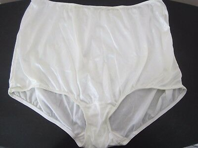 Vintage Sears Pair Off White Nylon Granny Panties Womens 11 High Waist Full Cut