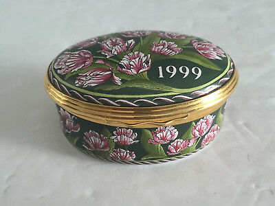A YEAR TO REMEMBER 1999 Halcyon Days Trinket Box Bilston and Battersea Enamels