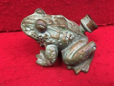Vintage Old Frog Lawn Figure Sprinkler Brass ? Cast Iron ? Heavy & Ornate