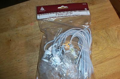 6 Socket Light Cord Set For Dept 56 Lemax Christmas Village Buildings C7 New