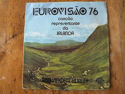 """7"""" Red Vincent Hurley """"When""""  EUROVISION Ireland 1976"""