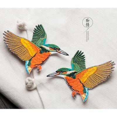 Butterfly Birds Embroidered Sew Iron on Patch Badge Women Clothes Dress Applique
